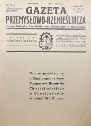 Gazeta Przemysłowo-Rzemieślinicza nr 16, R. LXVIII.