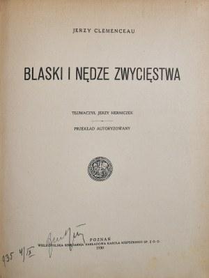 Clemenceau Jerzy - Blaski i nędze zwycięstwa.