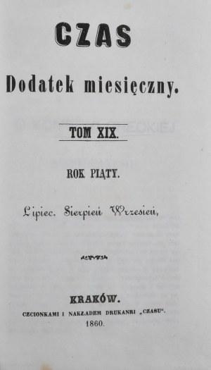 Czas, R. V, T. XIX, 1860