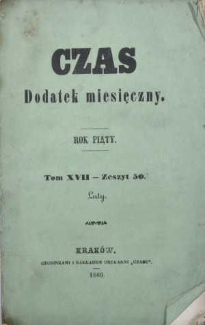 Czas, R. V, T. XVII, Z. 50, 1860