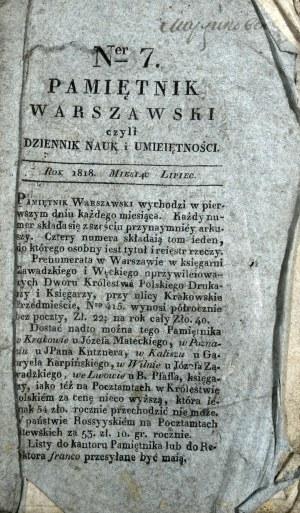 Pamiętnik Warszawski, 1818, nr 7