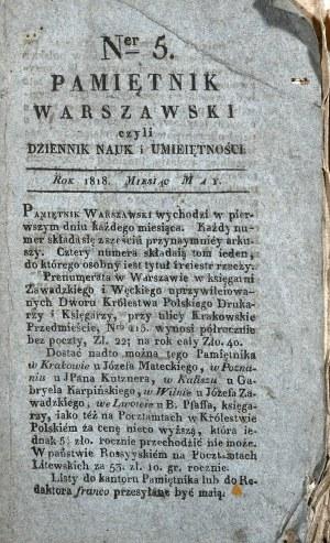Pamiętnik Warszawski, 1818, nr 5