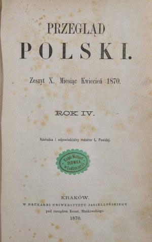 Przegląd Polski, R. IV, IV-VI, 1870 r.