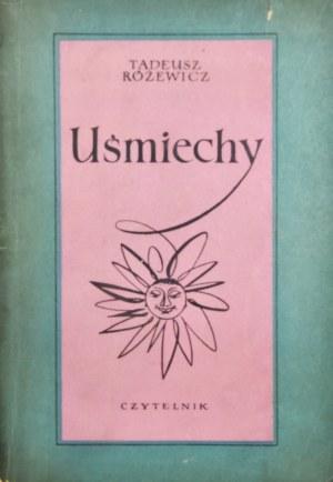 Różewicz Tadeusz - Uśmiechy. Ilustrował Jerzy Tchórzewski.