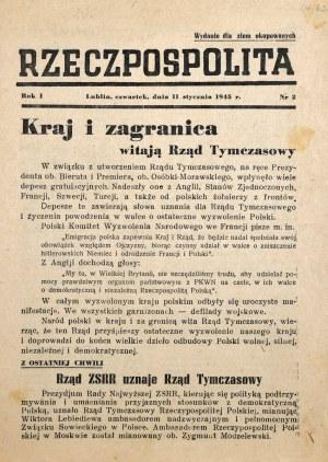 Rzeczpospolita, R. I, nr 2.
