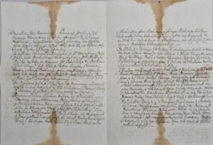Lubomirska Joanna, księżna - Odręczny list adlatusa, Rzeszów 1761 r.