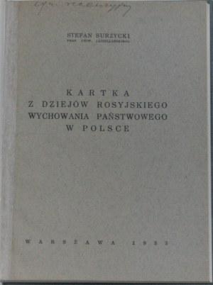 Surzycki Stefan - Kartka z dziejów rosyjskiego wychowania państwowego w Polsce