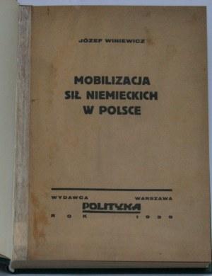 Winiewicz Józef - Mobilizacja sił niemieckich w Polsce.