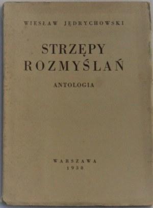 Jędrychowski Wiesław - Strzępy rozmyślań. Antologia.