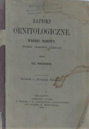 Wodzicki Kazimierz - Zapiski ornitologiczne. Wróbel domowy. Frigilla domestica (Lineusz) przez ...