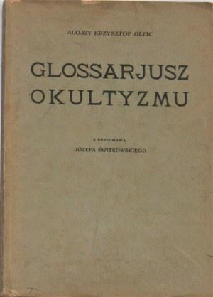 Gleic Alojzy Krzysztof - Glossarjusz okultyzmu.