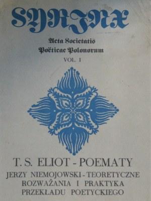 Eliot Thomas Stearns - Poematy. Przekład i szkic O teorii i praktyce przekładu poetyckiego Jerzego Niemojewskiego