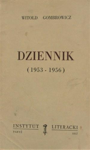Gombrowicz Witold - Dziennik (1953-1956), (1957-1961), (1961-1966). Operetka. T. 1-3. Wyd. 1.