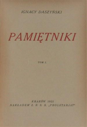 Daszyński Ignacy - Pamiętniki T. 1-2. Kraków 1925.