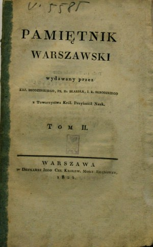 Pamiętnik Warszawski T. II, 1822