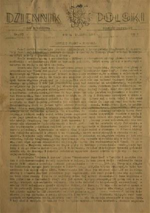 DZIENNIK POLSKI 1944