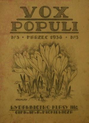 Vox Populi, nr 3, marzec 1938