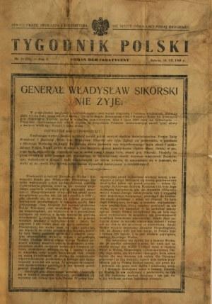 TYGODNIK POLSKI, 1943 - gen. Wł. Sikorski nie żyje