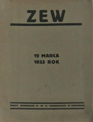 Zew. 19 marca 1933 rok. R. I, nr 1.