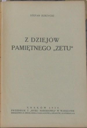 Surzycki Stefan - Z dziejów pamiętnego