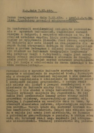 Komunikat, 7 XI 1944 r., Brno