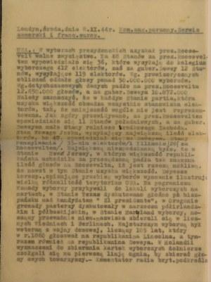 Komunikat, 8 XI 1944 r., Londyn