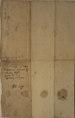 Pismo komisarzy królewskich, Krosno, 1617 r.