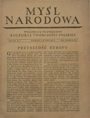 Myśl Narodowa, 1937