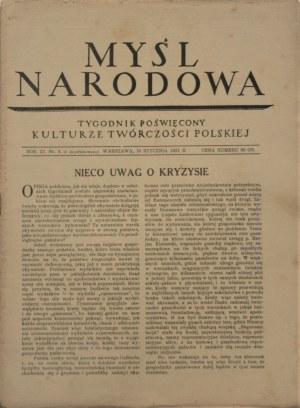 Myśl Narodowa, 1931