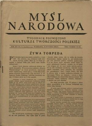 Myśl Narodowa, 1934