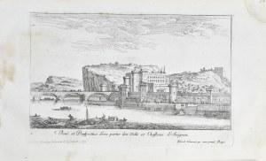 Israel Silvestre - Veue et Perspective d`une partie des Ville et Chasteau d `Avignon.