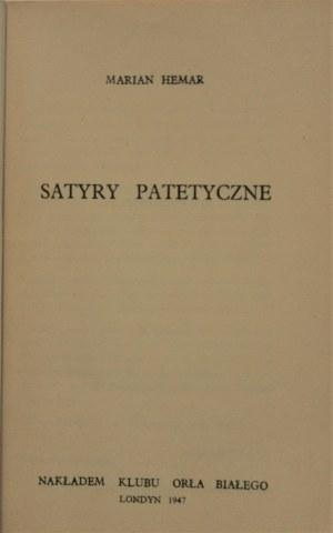 Hemar Marian - Satyry patetyczne. Wyd. 1. Londyn 1947.