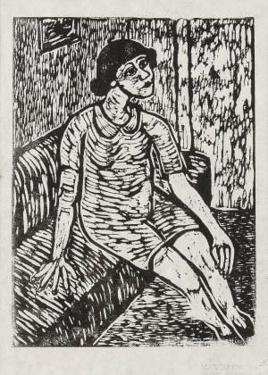 Władysław Rząb (1910 Zgierz – 1992 Łódź), Kobieta na kanapie