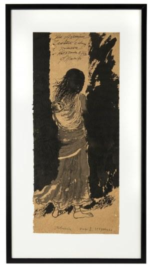 Andrzej Strumiłło (1927 Wilno -2020 Suwałki), Nepalka z dzieckiem, 1980 r.