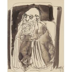 Otto Axer (1906 Przemyśl-1983 Warszawa), Żydowski kupiec, 1972 r.