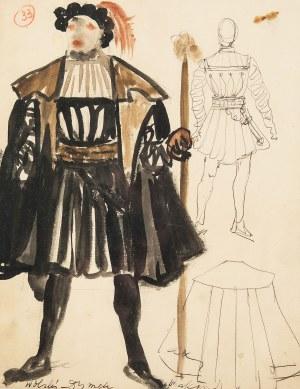 Otto Axer (1906 Przemyśl-1983 Warszawa), Kostium do przedstawienia teatralnego