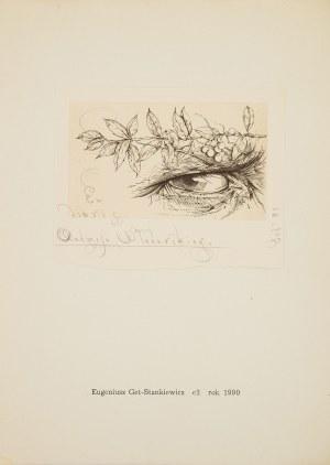 Eugeniusz Get - Stankiewicz (1942 Oszmiana - 2011 Wrocław), Ex libris Andrzeja Włodarskiego, 1990 r.