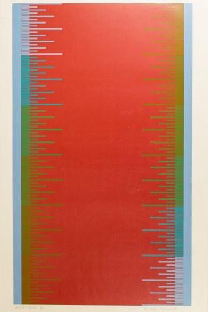 Richard Anuszkiewicz (ur. 1930 r., Erie), Mjukt rott, 1973 r.