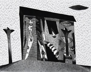 Jerzy Dmitruk, Z cyklu żywot malarza, Piętro wyżej, 2005
