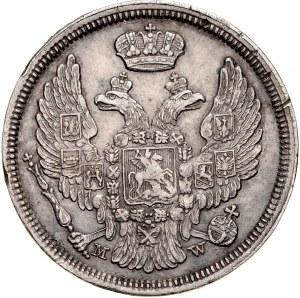 Zabór Rosyjski, 15 kopiejek 1 złoty 1834, Warszawa, RR.