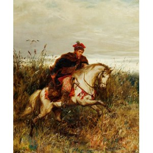Ludwik Gędłek (1847-1904), Posłaniec - Krakus pędzący na koniu
