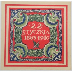 Plakieta okienna 22 stycznia 1863-1916
