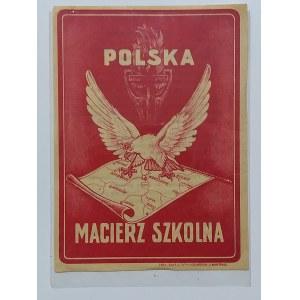 Patriotyczno-religijna ulotka Polska Macierz Szkolna