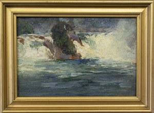 Bronisława Rychter-Janowska (1868-1953), Wodospad Rheinfall, Szafuza, Szwajcaria, 1901 r.