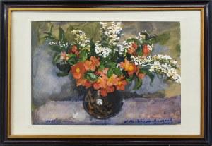 Anna Maślakiewicz-Brzozowska (1912-1986), Kwiaty w wazonie, 1955 r.