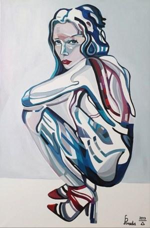 Paweł Porada (ur. 1985), Kobieta w sukience, 2019