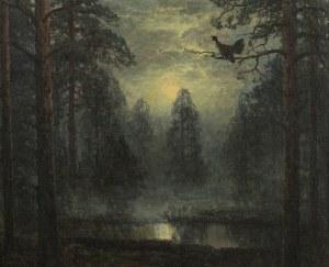 Wiktor Korecki (1890 Kamieniec Podolski - 1980 Milanówek k. Warszawy), Nokturn z głuszcem
