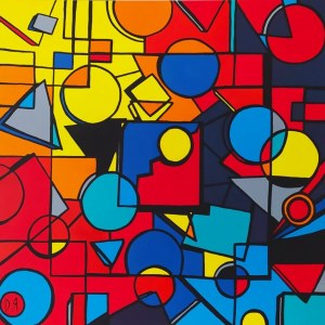 Dominika Radomska (ur. 1986), W kolorowej przestrzeni, 2020