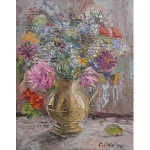 Celina Reiss-Litke (ur.1950), Jesienne kwiaty, 2020