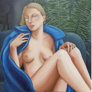 Paulina Rychter, Akt niebieski w futrze, 2020
